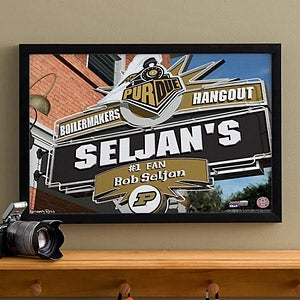 Purdue Boilermakers Collegiate Collegiate Football Personalized Pub Sign Canvas - 11202