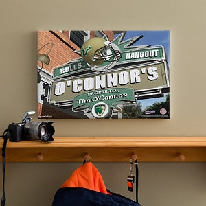 South Florida Bulls Collegiate Football Personalized Pub Sign Canvas - 11203