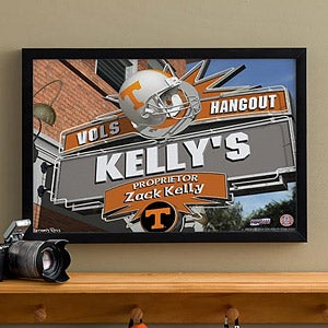 Tennessee Vols Collegiate Football Personalized Pub Sign Canvas - 11205
