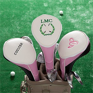 Personalized Women's Golf Club Covers - Pink - 11209