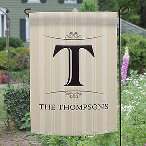 Personalized Family Monogram Garden Flag
