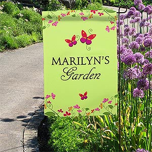 Personalized Garden Flags - Floral Welcome - 11218