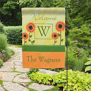 Personalized Garden Flag - Summer Sunflowers - 11220