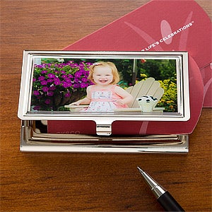 Personalized Photo Business Card Holders - 11224D