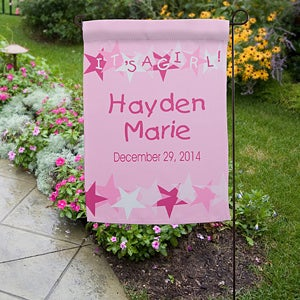 Personalization Mall Personalized Baby Announcement Garden Flag & Stand at Sears.com