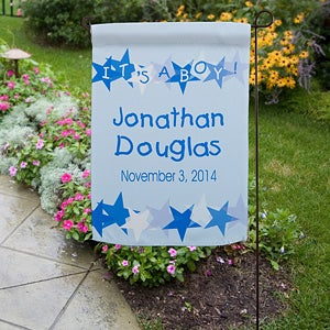 Personalization Mall Personalized Garden Flags - New Baby Announcement at Sears.com