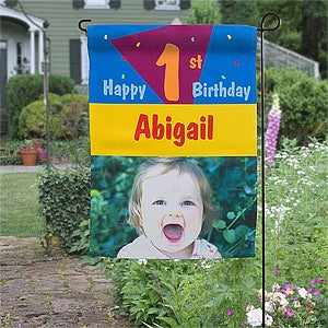 Personalized Birthday Party Photo Garden Flag - 11230