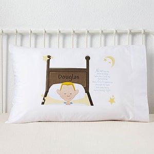 Personalized Boys Pillowcase - Bedtime Prayer - 11231