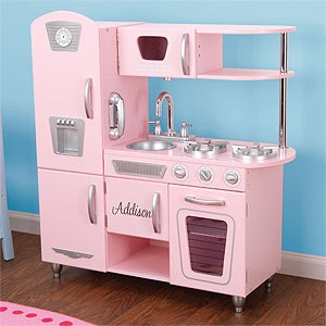Personalized Kitchen Playset for Kids - Vintage Kitchen - 11234D