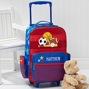 Personalized Boys Rolling Luggage - Sports