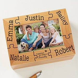 Personalized Photo Keepsake Box - Together We Make A Family - 11243