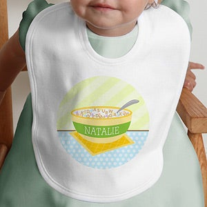 Personalization Mall Personalized Baby Bibs - Cereal Bowl at Sears.com
