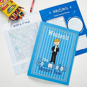 Personalized First Communion Memory Book - Communion Boy - 11251