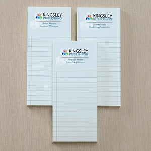 Corporate Logo Personalized Notepad Set Of 3 - 11266