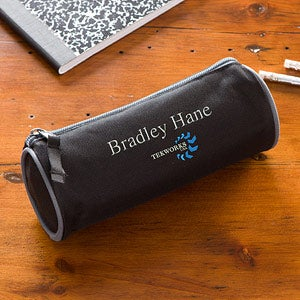 Corporate Logo Embroidered Black Pencil Case  - 11271