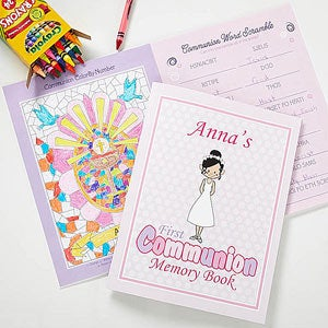 Personalized First Communion Memory Book - Communion Girl - 11281