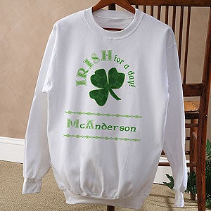 Personalized St Patrick's Day Clothing - Irish For A Day - 11284
