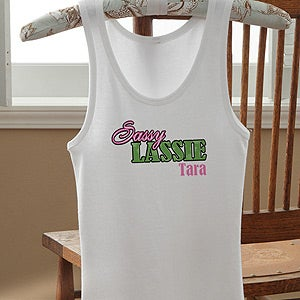 Personalization Mall Personalized Girls Tank Tops - Sassy Lassie at Sears.com