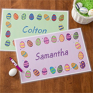 Personalized Easter Egg Placemat - 11312