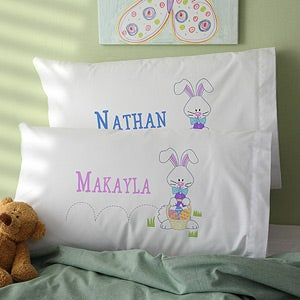 Personalized Easter Bunny Pillowcases - 11316