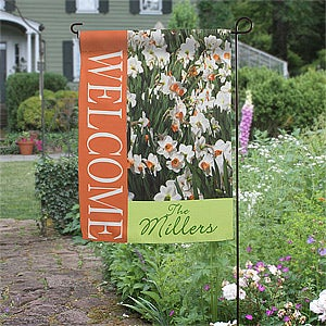 Personalized Garden Flags - Spring Daffodils - 11318