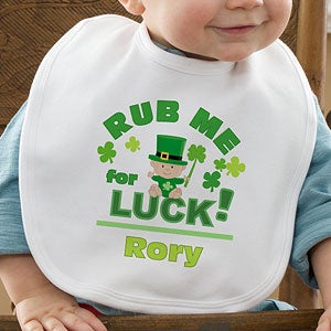 Personalized St Patrick's Day Baby Clothes - Rub Me For Luck - 11319