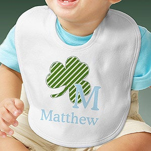 Personalization Mall Personalized Shamrock Baby Bib for Boys at Sears.com