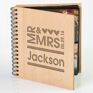 Personalized Wedding Photo Album - Mr & Mrs - 11332