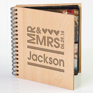 Personalized Wedding Photo Album - Mr & Mrs - 11332