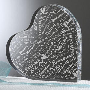 Personalized Valentine's Day Keepsake Gifts - Heart Of Love - 11345