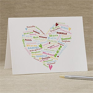 Personalized Greeting Cards - Her Heart of Love - 11348