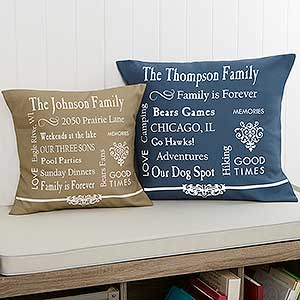 Personalized Keepsake Pillow - Family Memories - 11352