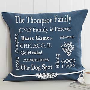 Personalized Keepsake Pillow - Family Memories - 11352