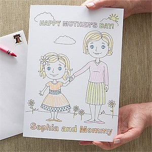 Personalized Mother's Day Cards - Mommy & Me - 11357