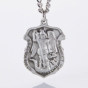 Personalized St Michael Law Enforcement Pendant - 11363