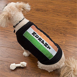 Personalized St Patrick's Day Dog Shirt - Irish Flag - 11369
