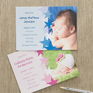 Photo Baby Announcements - New Arrival - 11370