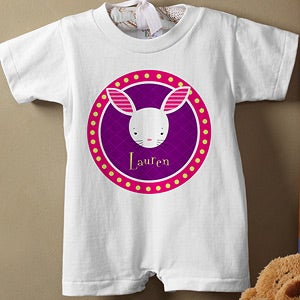 Personalization Mall Personalized Easter Baby Romper - Trendy Bunny at Sears.com