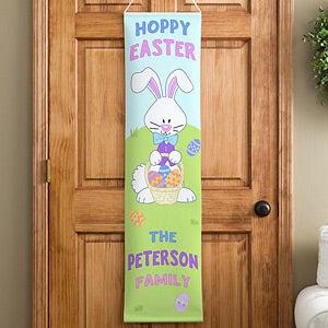 Hoppy Easter Personalized Door Banner & Personalized Door Banners - Happy Easter