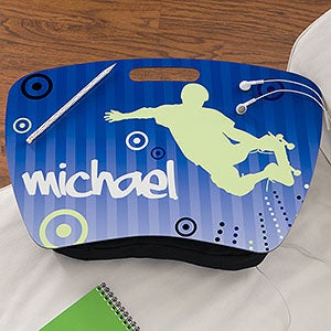 Personalized Kids Lap Desk - Skateboard - 11388