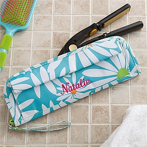 Personalized Flat Iron Case - Daisies - 11397