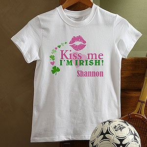 Kids Personalized Irish Apparel - Kiss Me I'm Irish - 11424
