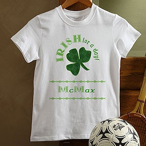 Personalization Mall Personalized St Patrick's Day Kids T-Shirt - Irish For A Day at Sears.com