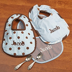 Personalization Mall Personalized Baby Boy Bibs - Little Boy Blue at Sears.com