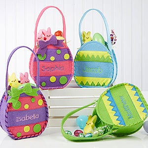 Embroidered Easter Egg Mini Treat Bag - 11433