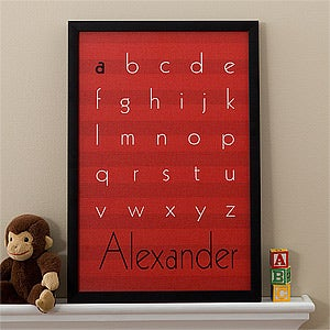 Personalized Kids Artwork - Alphabet Name - 11435