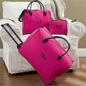 Personalization Mall Personalized Women's Luggage Set - Pink 3-Piece Set at Sears.com