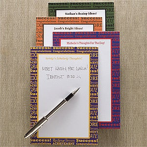 Personalized Notepads - Success, Achieve, Believe - 11447
