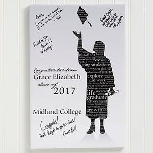 Personalized Graduation Canvas Art - The Graduate - 11451