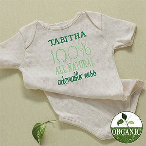 Personalization Mall Personalized Organic Cotton Baby Bodysuit - 100% Natural at Sears.com